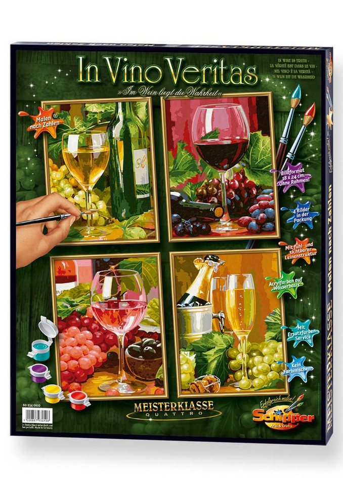 Schipper Malen nach Zahlen, »Meisterklasse Quattro - In Vino Veritas«