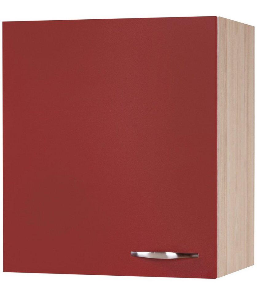 Küchenhängeschrank »Dakota«, Breite 50 cm in akaziefarben/rot