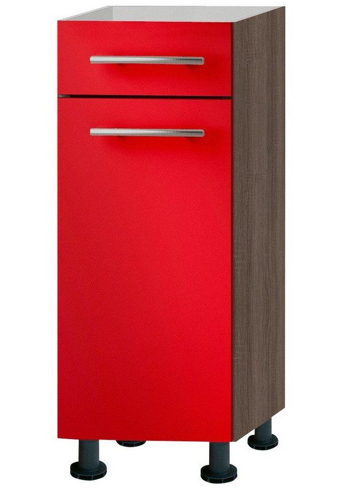 Küchenunterschrank »Knud«, Breite 30 cm in granat rot