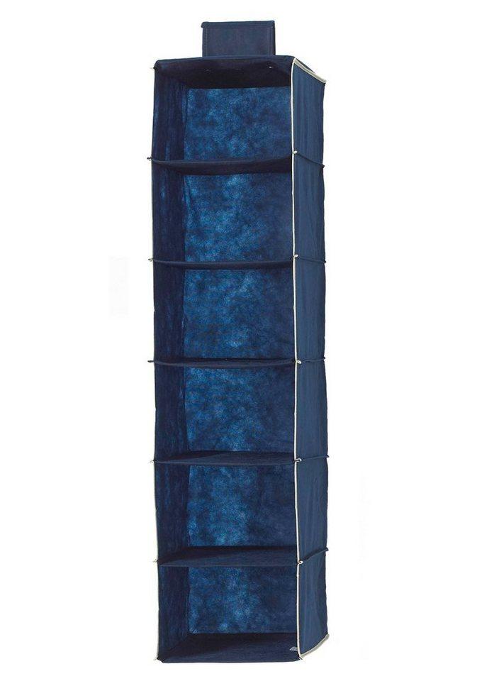 Hängeaufbewahrung »Größe M« mit 6 Fächern in dunkelblau