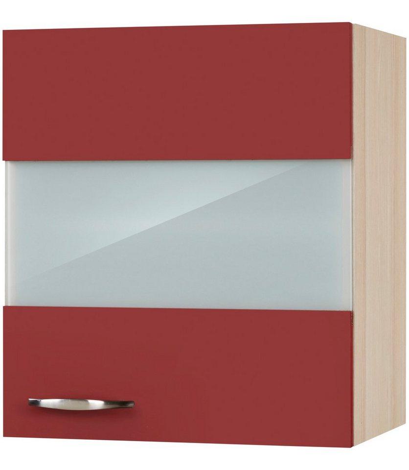 Küchenhängeschrank »Dakota«, Breite 50 cm in rot/akaziefarben