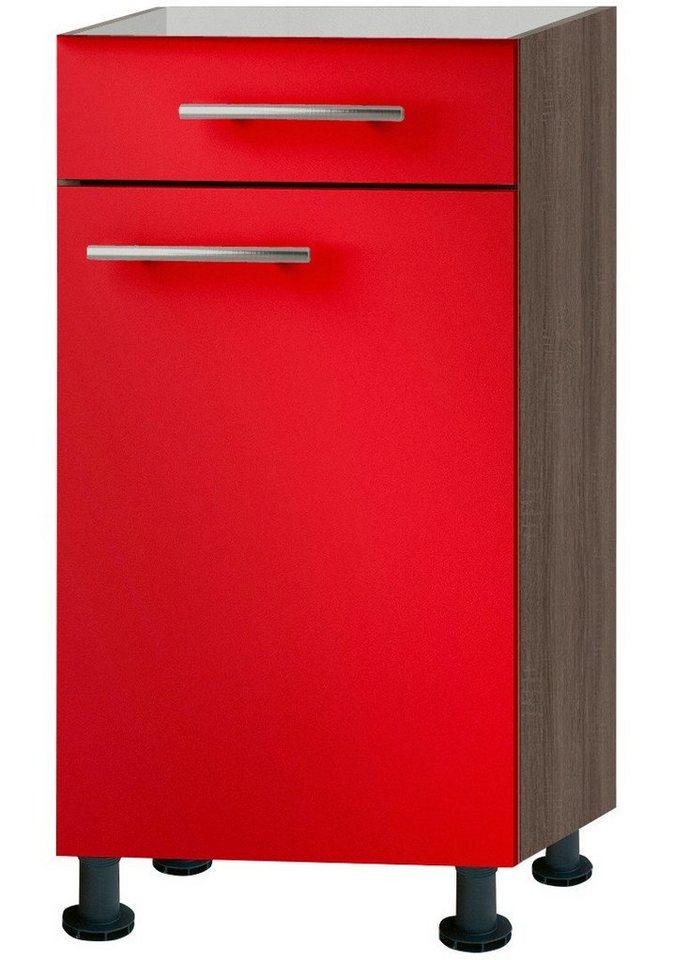 Küchenunterschrank »Knud«, Breite 40 cm in granat rot