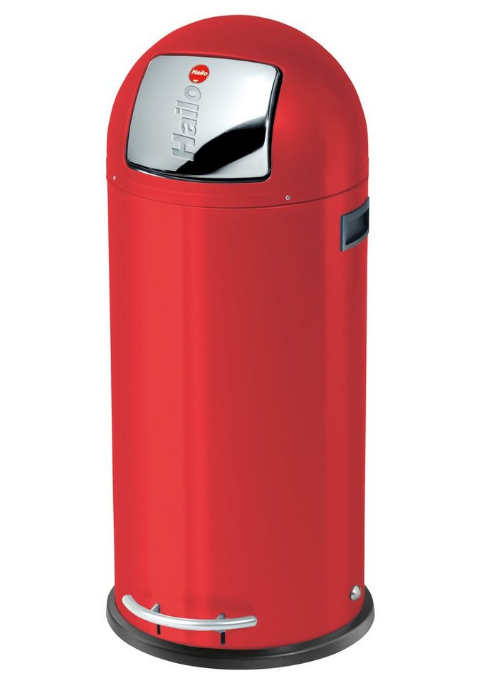 Großraum-Abfalleimer »KickMaxx 50« in rot