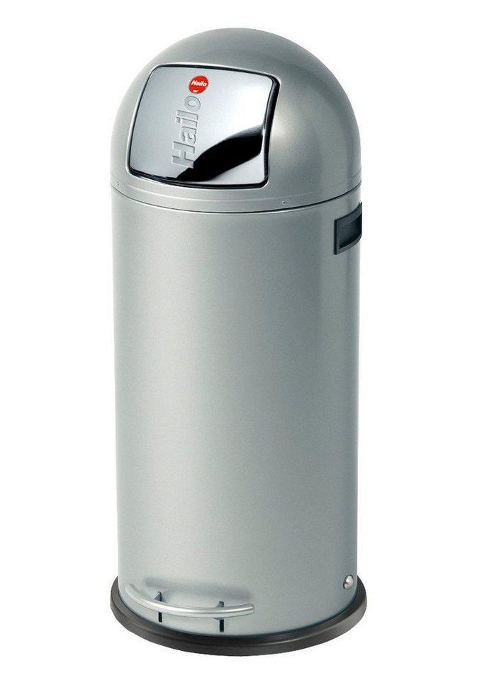 Großraum-Abfalleimer »KickMaxx 50« in silber