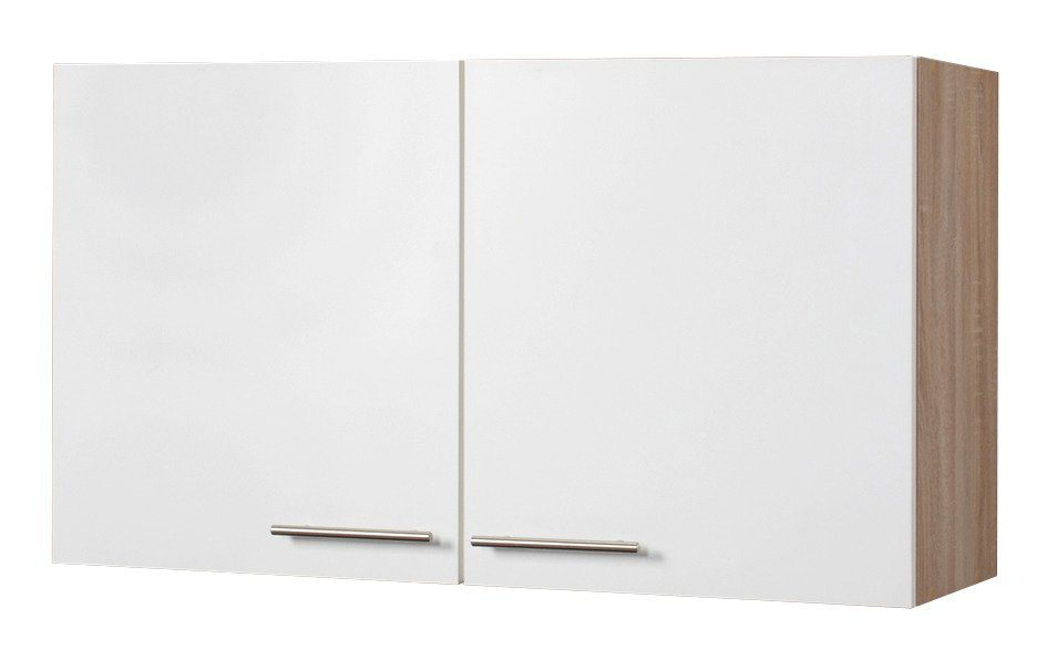 Küchenhängeschrank »Montana«, Breite 100 cm in weiß x eichefarben/weiß