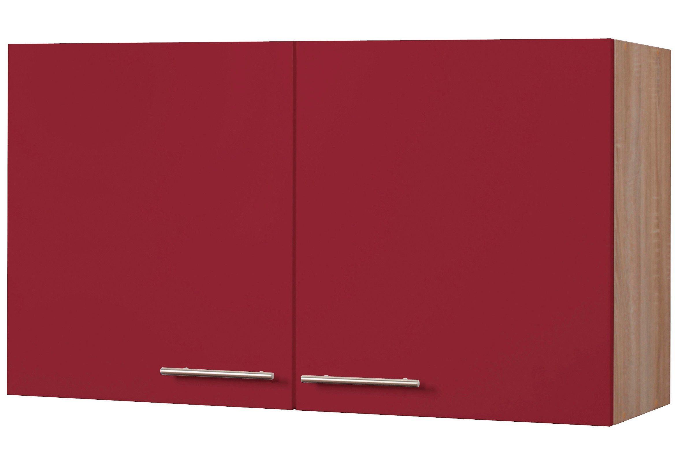 Wiho Küchen Küchenhängeschrank »Montana«, Breite 100 cm | Küche und Esszimmer > Küchenschränke > Küchen-Hängeschränke | Bordeaux | Eiche - Holzwerkstoff | wiho Küchen