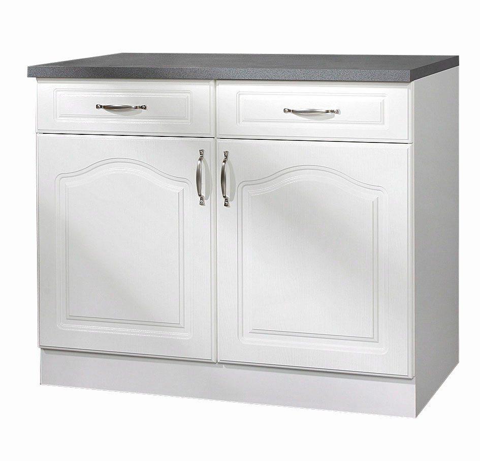 Küchenunterschrank »Lausanne«, B/T/H: 100/60/85 cm in weiß