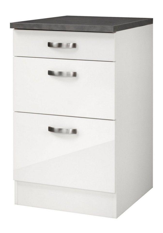 Küchenunterschrank »Lagos«, Breite 50 cm in weiß