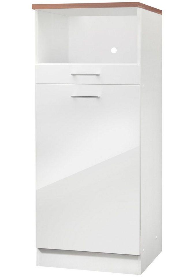 Kühlumbauschrank »Monaco«, inkl. E-Gerät, Höhe 165 cm in nussbaumfarben/weiß