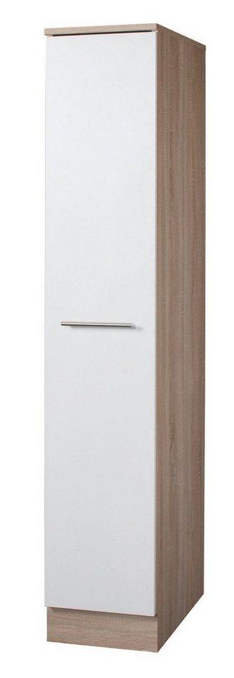 Apothekerschrank »Montana« Höhe 165 cm in eichefarben/weiß