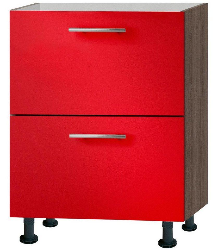 Küchenunterschrank »Knud«, Breite 60 cm in granat rot