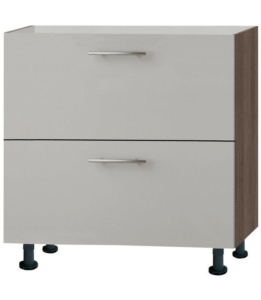 Küchenunterschrank »Mika«, Breite 80 cm in sahara beige