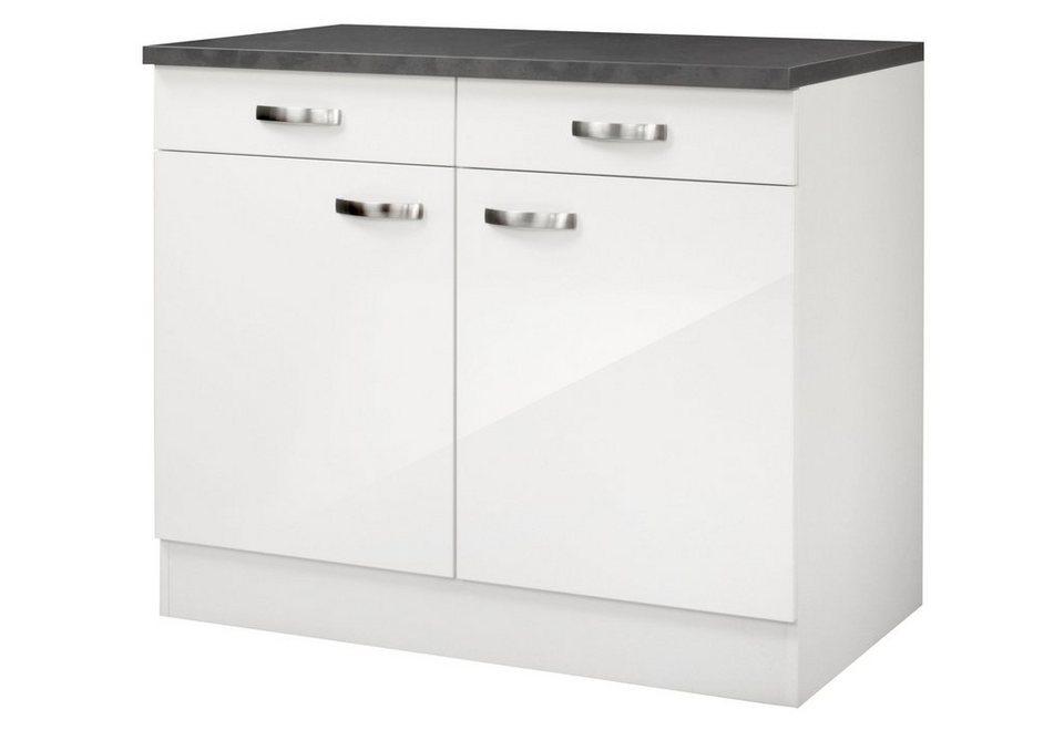 Küchenunterschrank »Lagos«, Breite 100 cm in weiß