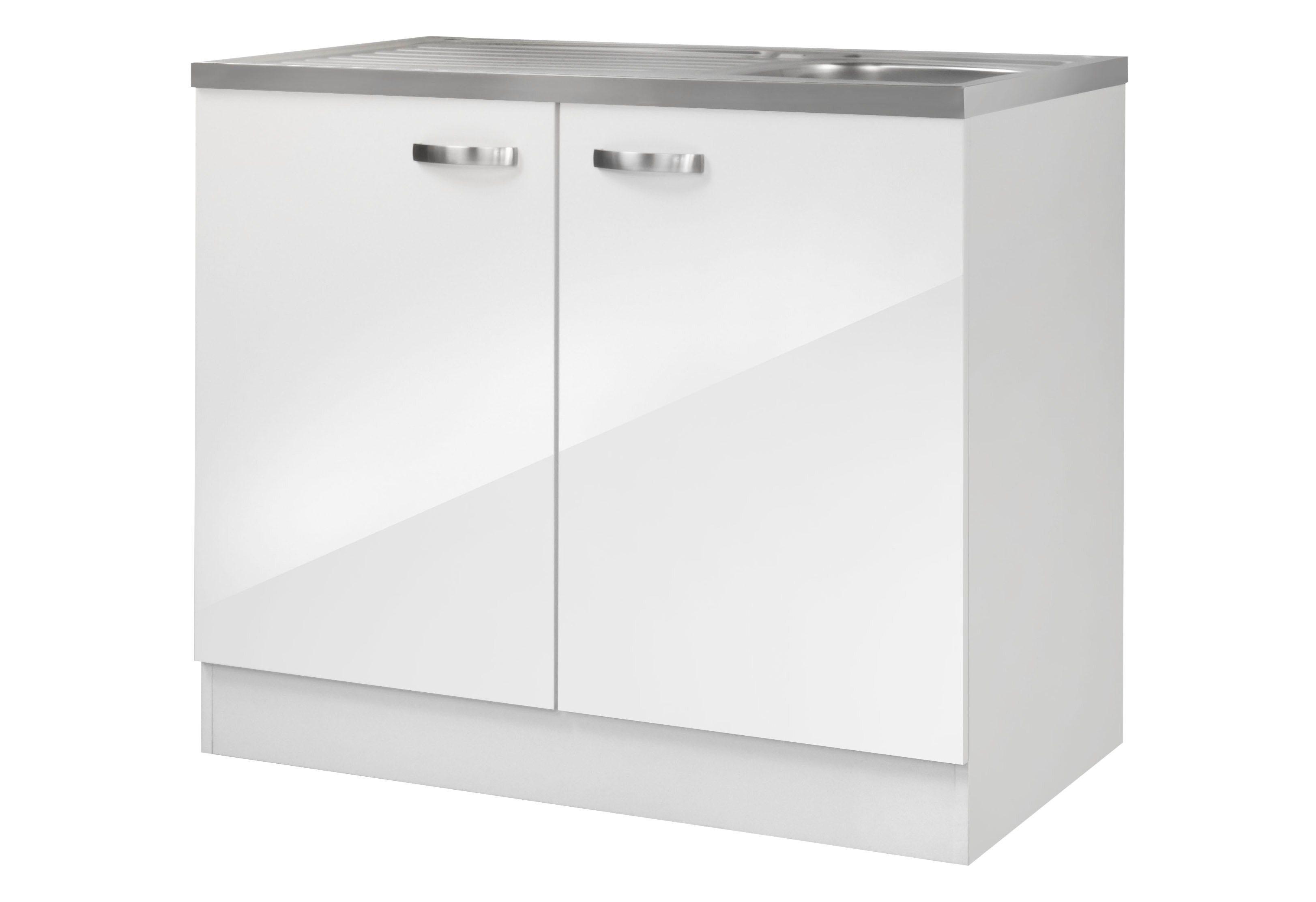 OPTIFIT Spülenschrank »Lagos, Breite 100 cm« | Küche und Esszimmer > Küchenschränke > Spülenschränke | Holzwerkstoff | OPTIFIT