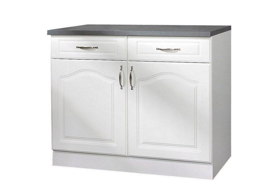 Küchenunterschrank »Lausanne«, B/T/H: 100/50/85 cm in weiß
