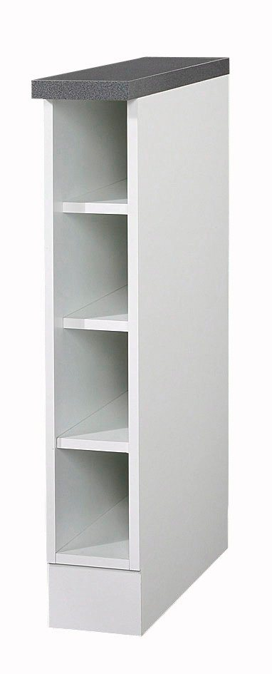 Wiho Küchen Flaschenregal »Lausanne«, Breite 15 cm   Küche und Esszimmer > Küchenregale > Küchen-Standregale   Weiß   wiho Küchen