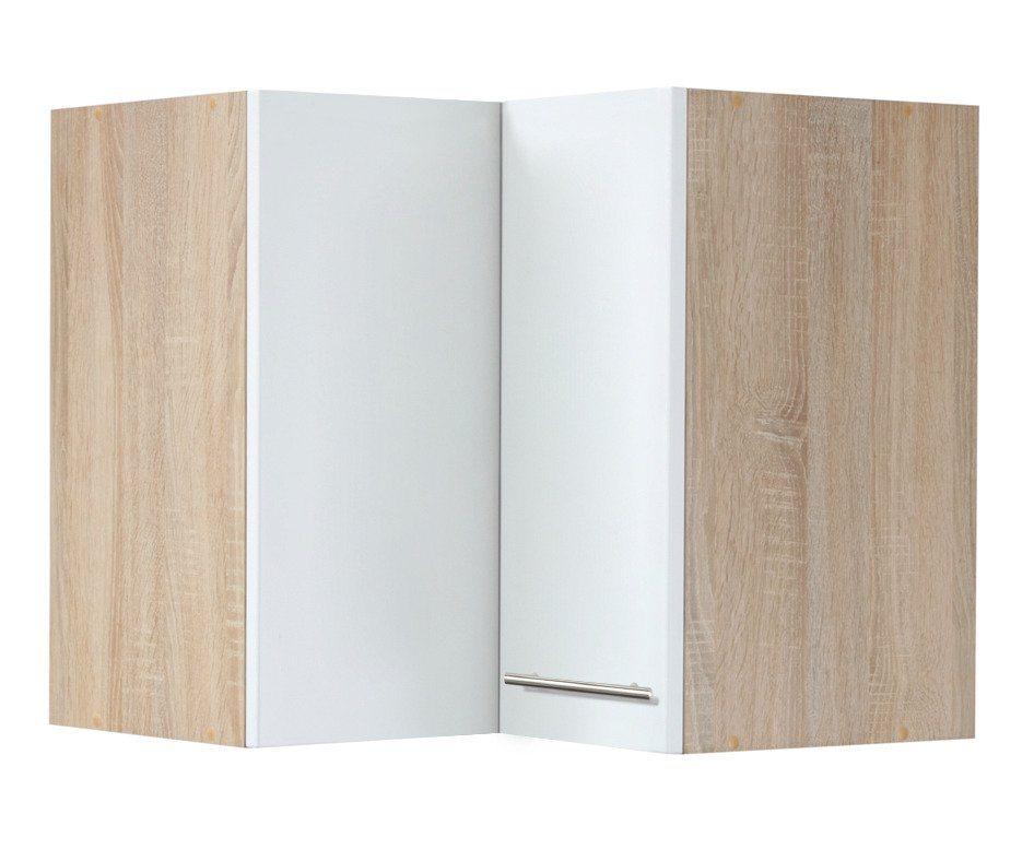 Eck-Hängeschrank »Montana«, Breite 60 x 60 cm in weiß