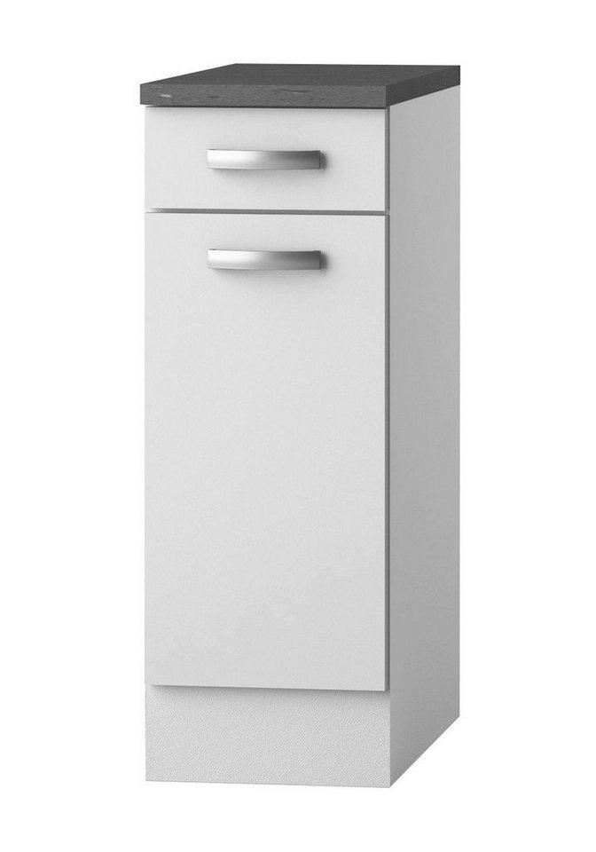 Küchenunterschrank »Lagos«, Breite 30 cm in weiß