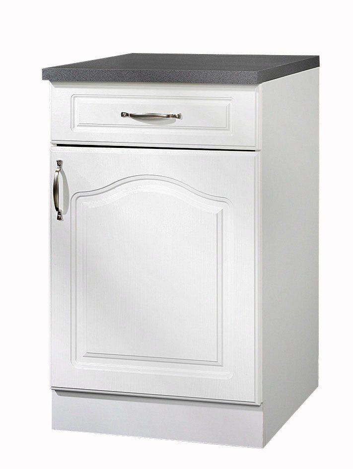 Küchenunterschrank »Lausanne«, B/T/H: 60/60/85 cm in weiß