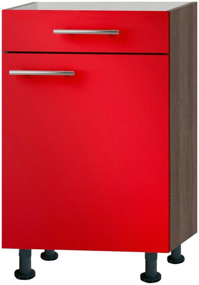 Küchenunterschrank »Knud«, Breite 50 cm in granat rot