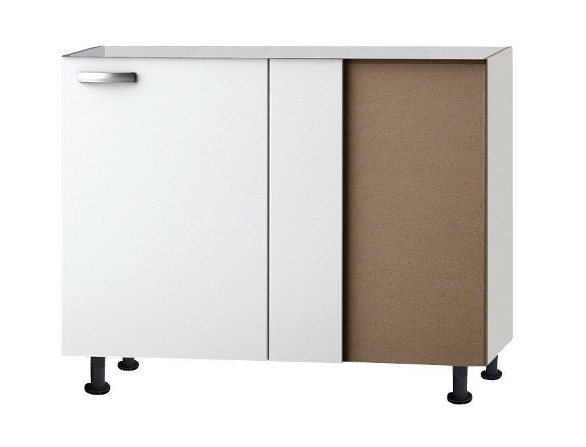 Eckunterschrank »Ole«, Breite 100 cm in weiß