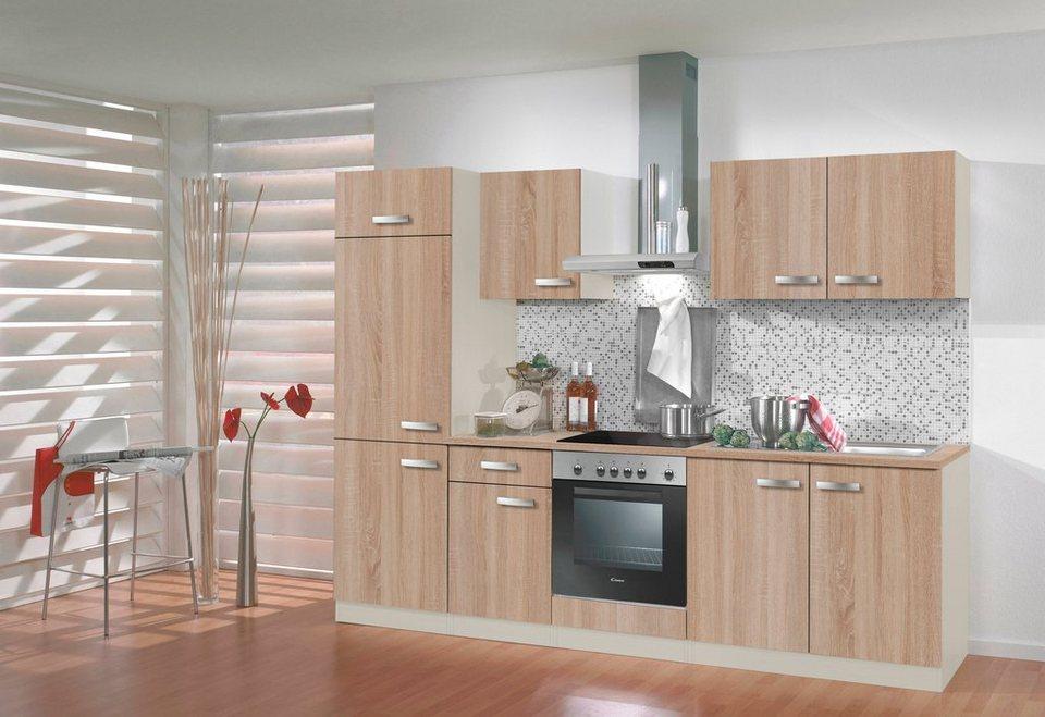 Küchenzeile ohne E-Geräte »Padua«, Breite 270 cm in eichefarben