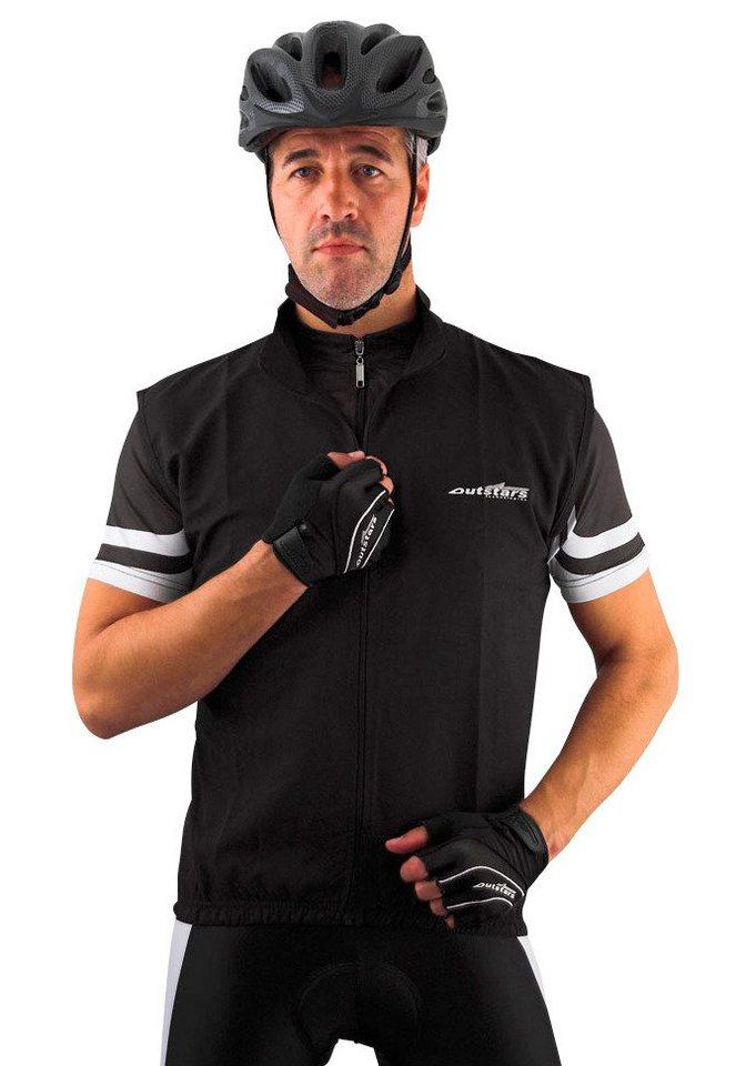 Fahrradweste »Outstars« in schwarz/weiß