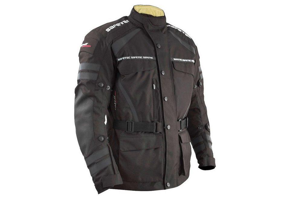 Motorradjacke »Safetec« in schwarz