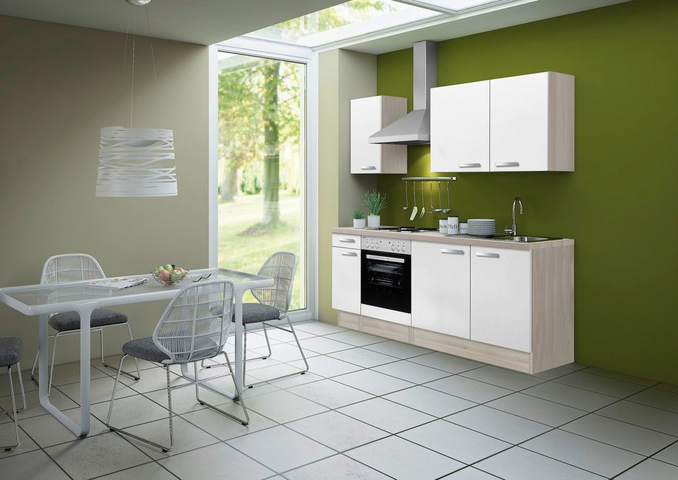Küchenzeile einfach  OPTIFIT Küchenzeile ohne E-Geräte »Skagen, Breite 210 cm« online ...
