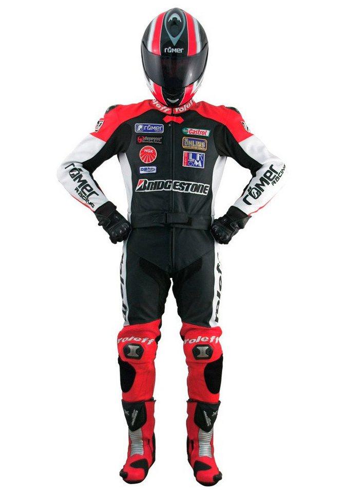 Roleff Racewear Lederkombi »Hockenheim« in schwarz