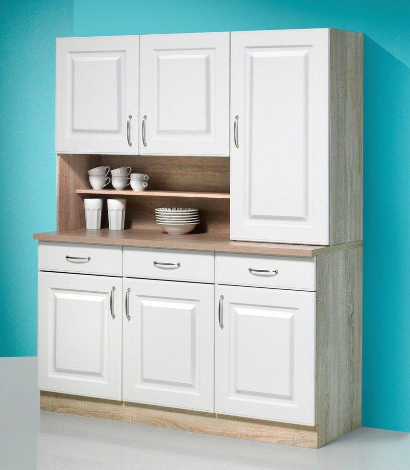 Küchenbuffet »Tilda«, Breite 150 cm in weiß/eichefarben sonoma