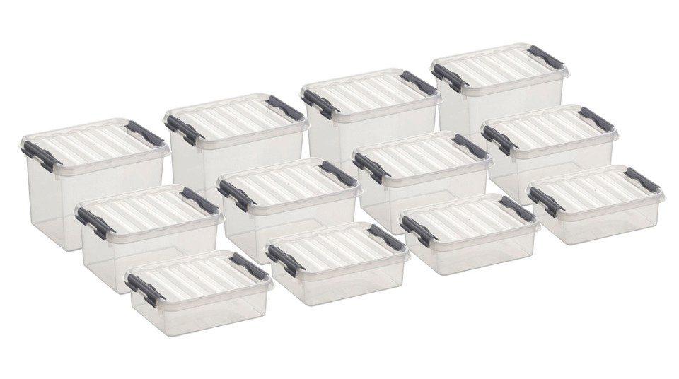 Sunware Aufbewahrungsboxen - verschiedene Größen, 12er Set