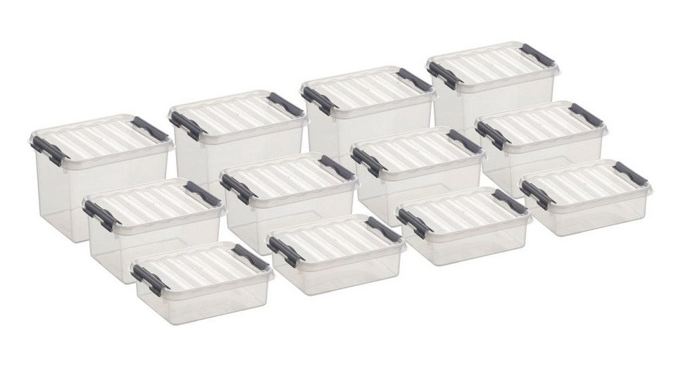 12er Set Aufbewahrungsboxen - verschiedene Größen