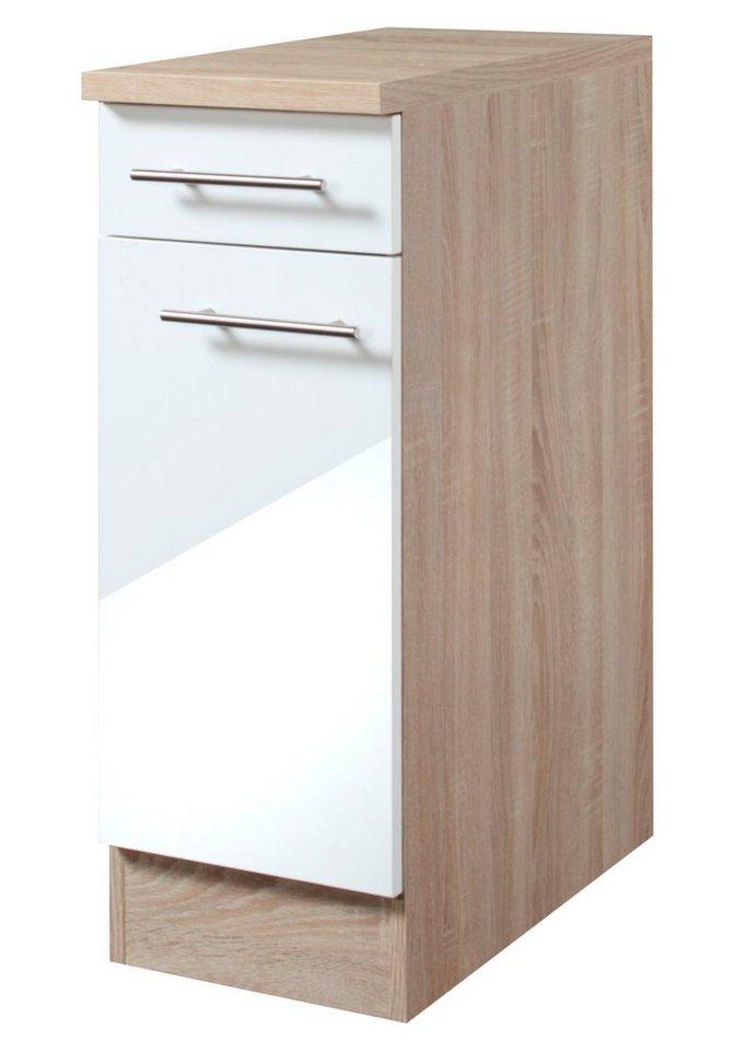 Küchenunterschrank »Dakar«, Breite 30 cm in eichefarben/weiß