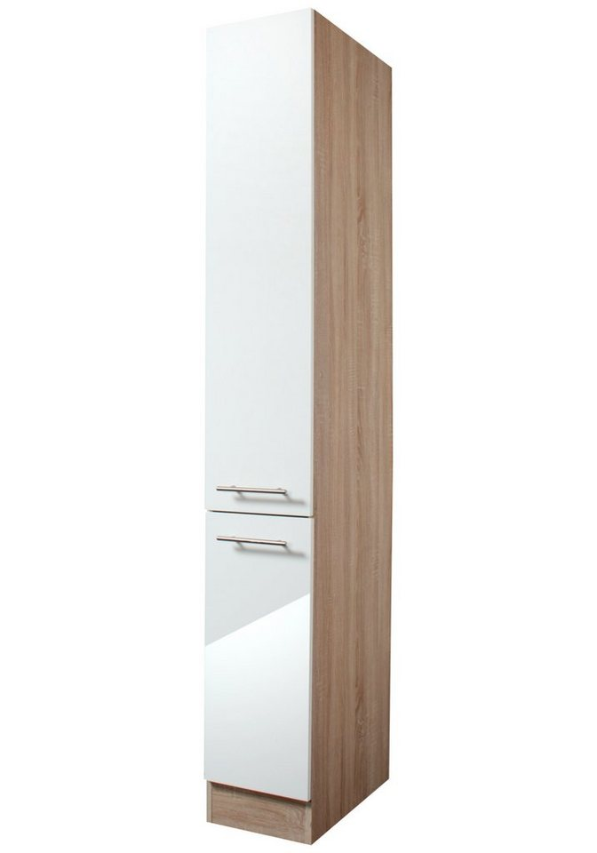 Apothekerschrank »Dakar«, Höhe 206,8 cm in eichefarben/weiß