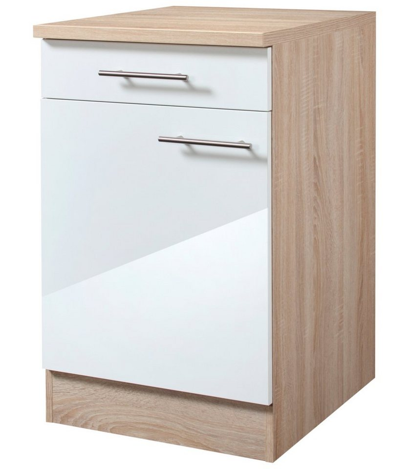 Optifit Küchenunterschrank »Dakar«, Breite 40 cm in eichefarben/weiß