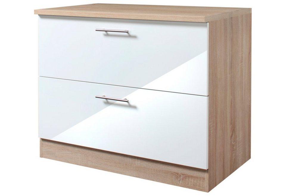 Küchenunterschrank »Dakar«, Breite 100 cm in eichefarben/weiß
