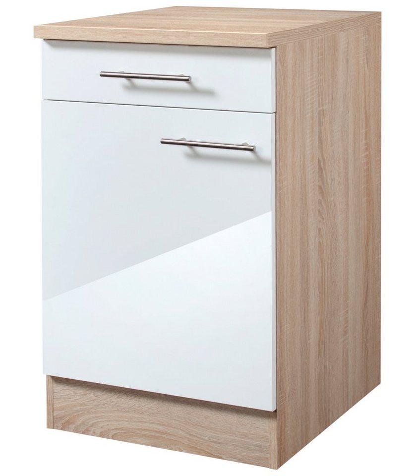 Küchenunterschrank »Dakar«, Breite 50 cm in eichefarben/weiß