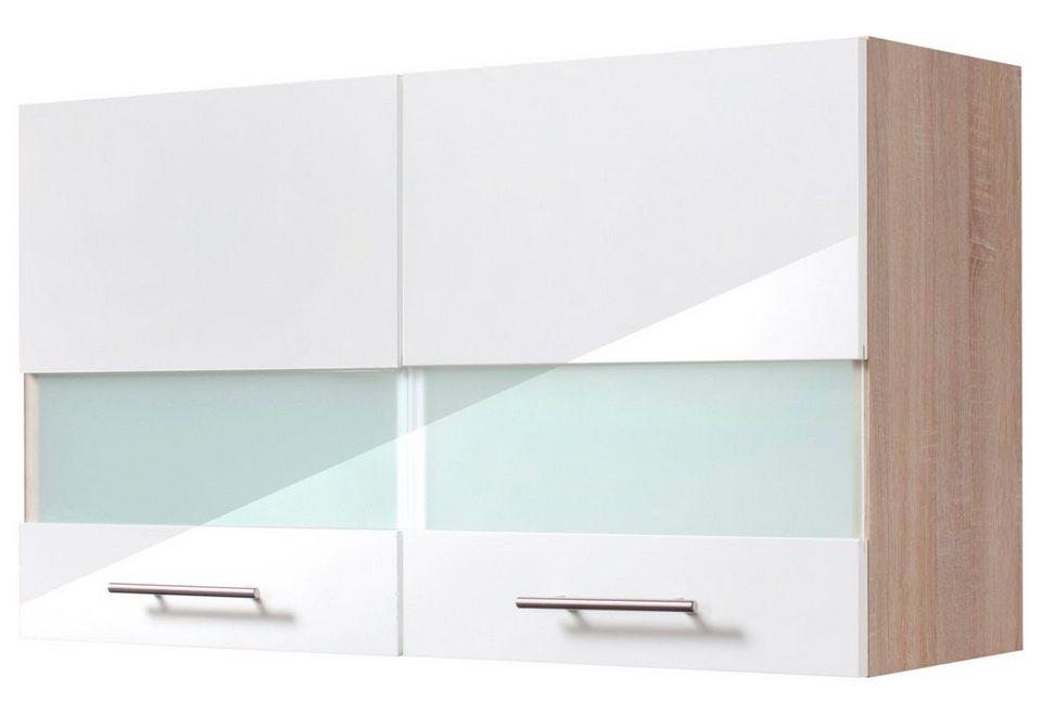 Küchenhängeschrank »Dakar«, Breite 100 cm in eichefarben/weiß