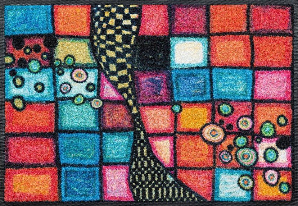 Fußmatte, wash+dry by Kleen-Tex, »Tiger Tundra«, rutschhemmend beschichtet in multicolor