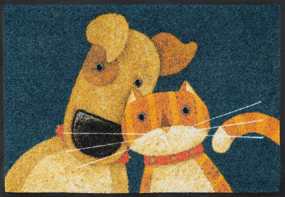 Fußmatte, wash+dry by Kleen-Tex, »Dream a little«, rutschhemmend beschichtet in multicolor