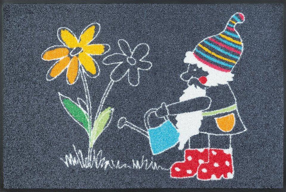 Fußmatte »Friedolin«, wash+dry by Kleen-Tex, rechteckig, Höhe 7 mm in bunt
