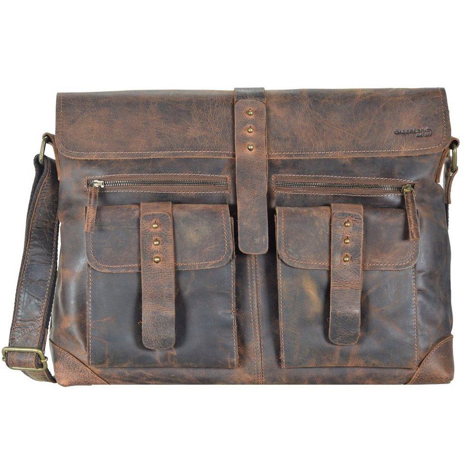 Greenland Classic Messenger Tasche Leder 41 cm in brown