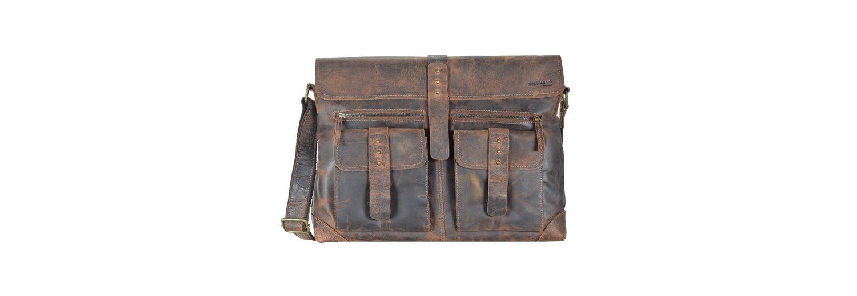 Greenland Classic Messenger Tasche Leder 41 cm