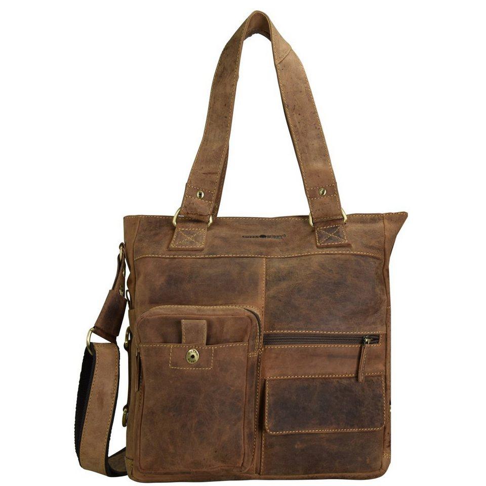 Greenburry Vintage Handtasche Leder 39 cm in brown