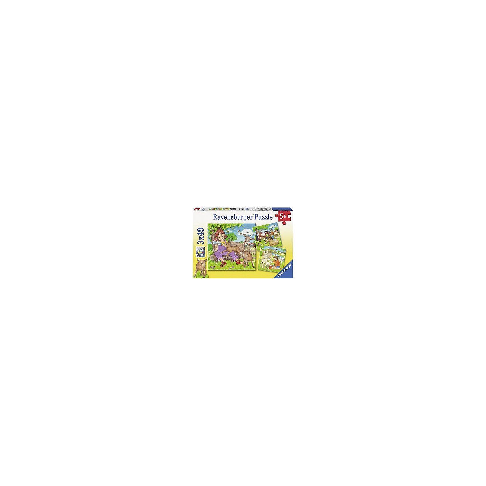 Ravensburger Puzzleset 3 x 49 Teile - Meine Lieblingstiere