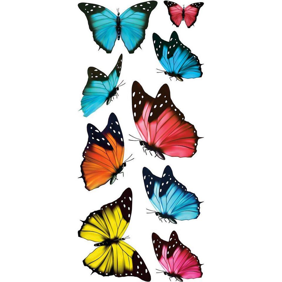 Fenstersticker Schmetterlinge, 16-tlg. in mehrfarbig