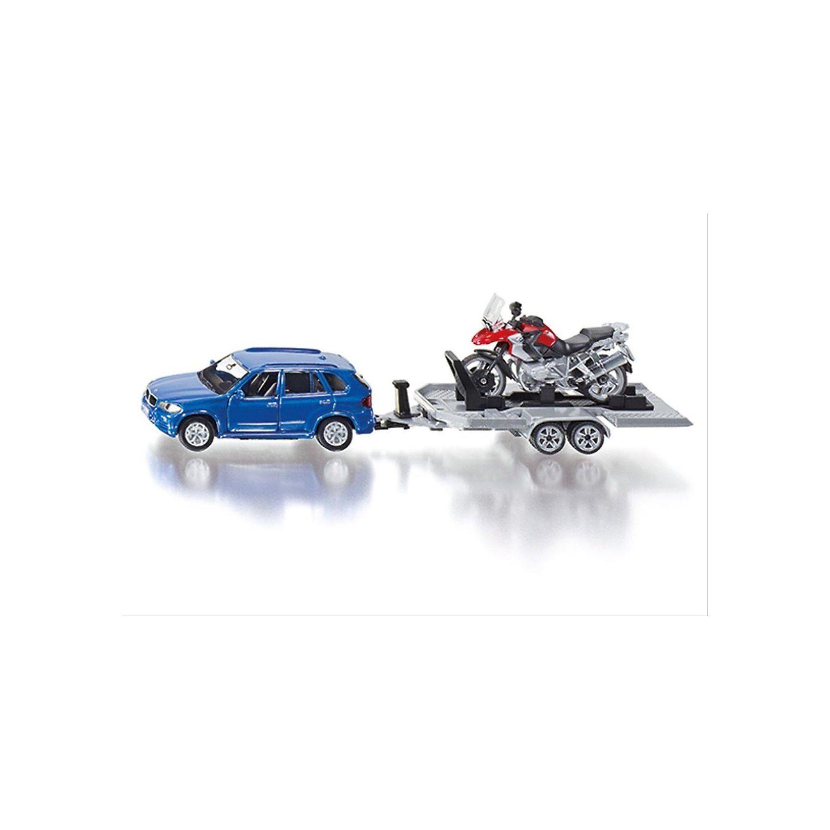 SIKU 2547 PKW mit Anhänger und Motorrad 1:50