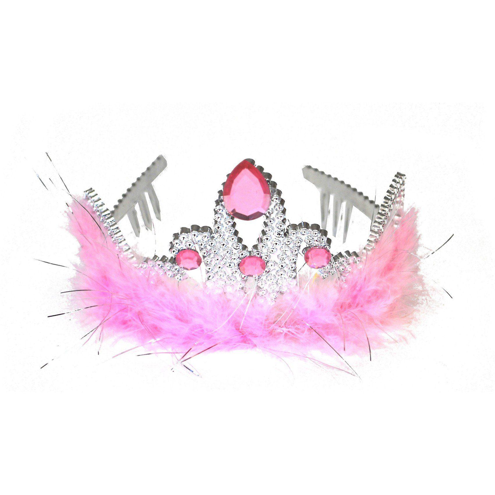Funny Fashion Diadem mit rosa Marabu