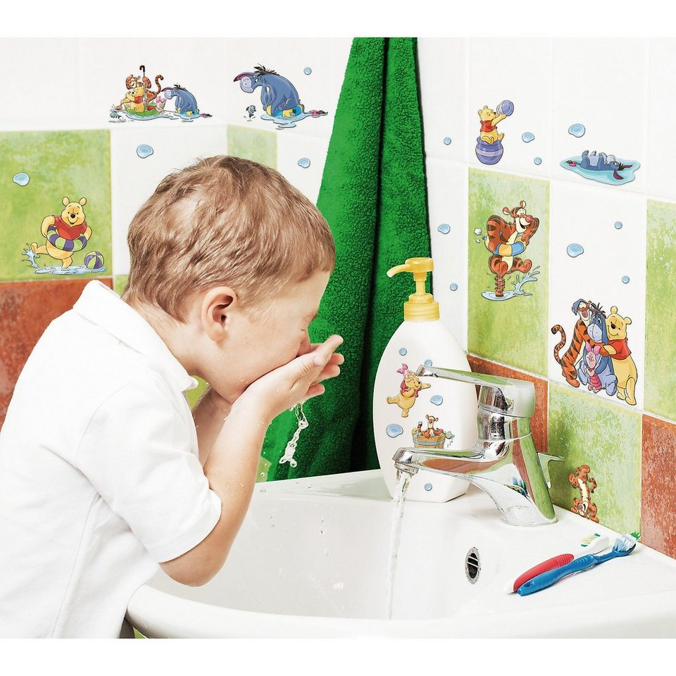 Sticker Creative Winnie the Pooh, Water Play, 40-tlg.